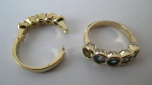 Hinged ring for difficult to fit fingers.